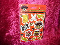 PIRATE PARTY Favors STICKERS Pirates Assorted New r