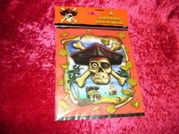 PIRATE PARTY Favors LOOT BAGS Pirates SKULL Bones New r