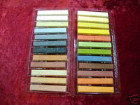 PASTEL CHALK Set 24 Assorted Blendable EARTH TONES Weather Models z