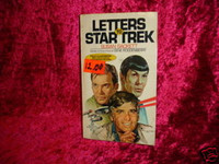 LETTERS TO STAR TREK PAPERBACK BOOK Rare First Edition z