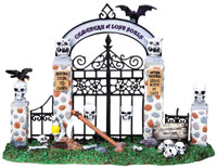 Lemax 83675 CEMETERY GATE Spooky Town Table Accent Halloween bcg
