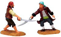Lemax 72439 SWASHBUCKLERS Spooky Town Figurines Retired Halloween Decor Pirates bcg