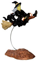 Lemax 22005 OUT-OF-CONTROL WITCH Spooky Town Figurine Halloween Decor bcg