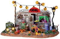 Lemax 14323 KILLER CLOWN MOBILE HOME Spooky Town Halloween Decor bcg