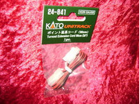"Kato 24841 N HO UNITRACK TURNOUT EXTENSION CORD 35"" Track New z"