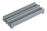 "Kato 20457 N UNITRACK DOUBLE PLATE GIRDER BRIDGE GRAY 7-5/16"" Train Track N Scale bcg"
