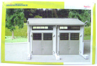 Herpa 740487 HO MAINTENANCE BUILDING KIT Civilian 292 Shed Train New z