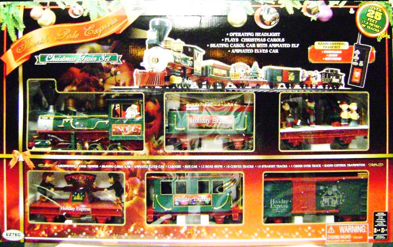 Train Set For Christmas Village