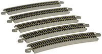 "Bachmann 44519 HO E-Z TRACK 26"" Radius CURVED 5 NS Gray Train bcg"