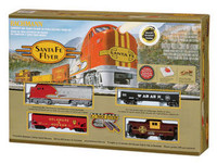 Bachmann 00647 HO SANTA FE FLYER TRAIN SET Ready to Run EZTrack RTR bcg
