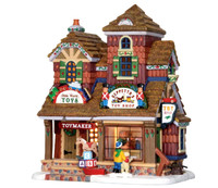 Lemax 25390 GEPPETTO'S TOY SHOP Vail Village Lighted Building Christmas Decor bcg