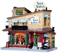 Lemax 05006 THE BLUE BAYOU CLUB Harvest Crossing Building Christmas Village Decor bcg
