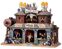 LEMAX 05012 ROAD KILL ROADHOUSE Retired Spooky Town Halloween Decor