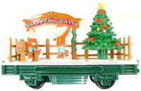EZTEC SKATING ELF CAROL CAR ANIMATED Christmas Train Car G Scale Scientific Toys bcg