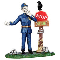Lemax 22010 SPOOKYTOWN TRAFFIC GUARD Spooky Town Figurine Retired Halloween bcg