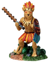 Lemax 02770 JAGUAR WARRIOR Spooky Town Figurine Retired Halloween Decor Figure bcg