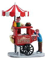 Lemax 12932 HOT DOG CART Figurine Christmas Village Figures Accessories bcg