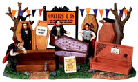 Lemax 03821 COFFINS R US Spooky Town Table Accent Retired Halloween Decor bcg