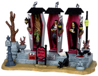 Lemax 03826 VAMPIRE CONDOS Spooky Town Table Accent Retired Halloween Decor bcg