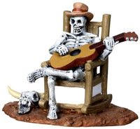 Lemax 22003 ROCKING CHAIR SKELETON Spooky Town Figurine Halloween Decor G Scale Figure bcg