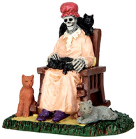 Lemax 62428 FORMER CAT LADY Spooky Town Figurine Halloween Decor G Scale Figure bcg