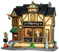 Lemax 35546 O'REILLY'S IRISH GIFT SHOP Building Christmas Village Decor S Scale  bcg