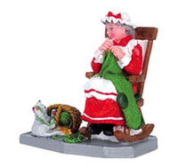 Lemax 62210 MRS. CLAUS' BIG STOCKING Christmas Village Figurine Retired G Scale Figure bcg
