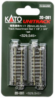 "Kato 20091 N UNITRACK SHORT STRAIGHT TRACK ASSORTMENT SET 1-1/8"" 1-3/4"" bcg"