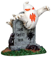 Lemax 22006 TOMB SWEET TOMB Spooky Town Figure Halloween Decor Figurine O G Scale bcg