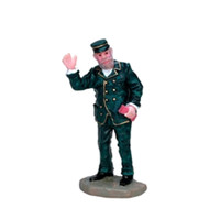 Lemax 72424 THE CONDUCTOR Christmas Village Figurine G Scale Figure Decor bcg