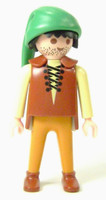 Playmobil 3666 Castle Parts FIGURE PAUPER Poor Man Guy Kings Medieval Knights bcg
