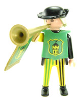 Playmobil 3666 Castle Parts FIGURE TRUMPETER MAN NB NC NHD Trumpet Guy Knights bcg