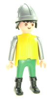 Playmobil 3666 Castle Parts FIGURE SOLDIER BLACK HAIR NB NCA JH Kings Knights bcg