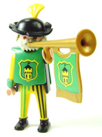 Playmobil 3666 Castle Parts FIGURE TRUMPETER MAN Trumpet Player Kings Knights bcg