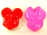 MICKEY & MINNIE SAND MOLD Set of 2 Beach Toys Sandbox Summer Fun Outdoor Mouse bcg