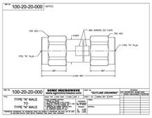 100-20-20-000:  N MALE TO N MALE (IN-SERIES ADAPTER)