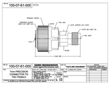 100-07-61-000:  7mm TO TNC FEMALE (BETWEEN-SERIES ADAPTER)