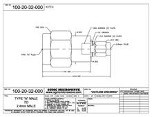 100-20-32-000:  N MALE TO 2.4mm MALE (BETWEEN-SERIES ADAPTER)