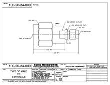 100-20-34-000:  N MALE TO 2.92mm MALE (BETWEEN-SERIES ADAPTER)