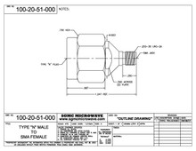 100-20-51-000:  N MALE TO SMA FEMALE (BETWEEN-SERIES ADAPTER)