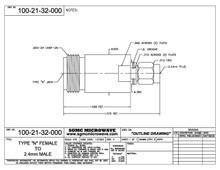100-21-32-000:  N FEMALE TO 2.4mm MALE (BETWEEN-SERIES ADAPTER)