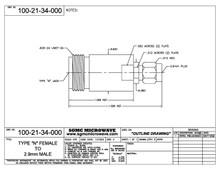 100-21-34-000:  N FEMALE TO 2.92mm MALE (BETWEEN-SERIES ADAPTER)