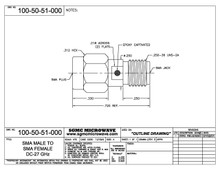 100-50-51-000:  SMA MALE TO SMA FEMALE (IN-SERIES ADAPTER)
