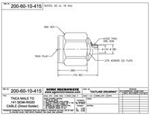 200-60-10-415:  TNCA MALE TO .141 SEMI-RIGID CABLE (DIRECT SOLDER) 18 GHz