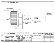 300-07-75-000:  7mm PRECISION CONNECTOR HEAD (WITH CONTACT & BEAD)
