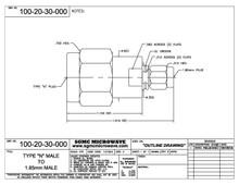 100-20-30-000:  N MALE TO 1.85mm MALE (BETWEEN-SERIES ADAPTER)