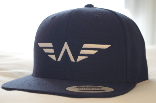 WBTF Navy Blue Flat Bill Original SnapBack Lids