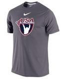 Nike Men's Cotton USAW Shirt - Grey