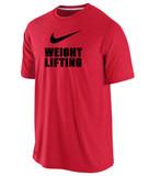 Nike Men's Cotton Weightlifting Shirt - Red / Black