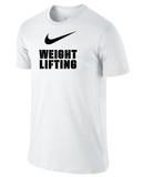 Nike Men's Cotton Weightlifting Shirt - White / Black